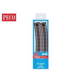 Peco ST-2035 Standard kurva, radie 4, 240 mm, radie 571,5 mm, 8 st