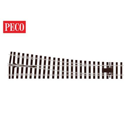 """Peco SL-E791BH Växel """"Bullhead"""", höger, medium, radie 1828 mm, vinkel 8°, längd 416 mm"""