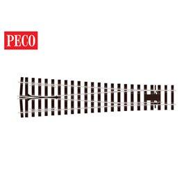 "Peco SL-E797BH Växel Y ""Bullhead"", medium, radie 1828, vinkel 8°, längd 573 mm"