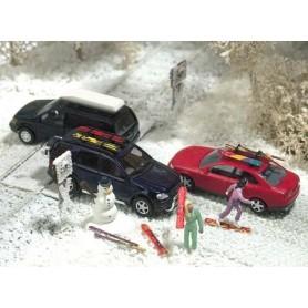 Busch 6004 Vinterset, snowboards, snögubbar, skidboxar m.m.