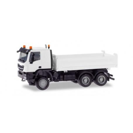 Herpa 013673 Herpa MiniKit. Iveco Trakker tractor 6×6, white