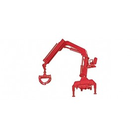 Herpa 051491-002 Hiab Crane with grip, red
