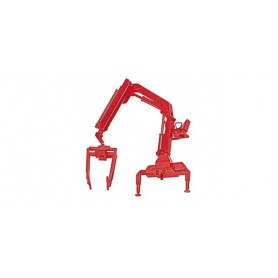 Herpa 051507-002 Hiab Crane with pallette forks, red