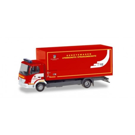 Herpa 094580 Mercedes-Benz Atego box truck ?Feuerwehr Eschwege | respiratory protection?