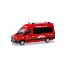 Herpa 094597 VW Crafter high-roof bus ?Operations management fire brigadeEschwege?