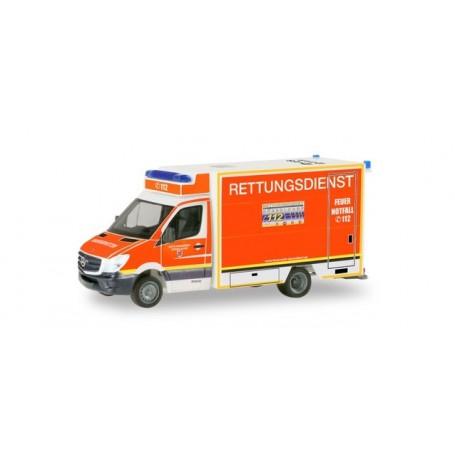 Herpa 094627 Mercedes-Benz Sprinter Fahrtec-RTW ?Fire brigade Düsseldorf?