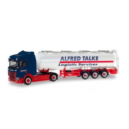 Herpa 310383 Scania CR 20 low roof ?Alfred Talke? chemical tank semitrailer truck