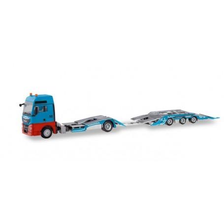 Herpa 310406 MAN TGX XXL truck transporter trailer ?Mosolf?