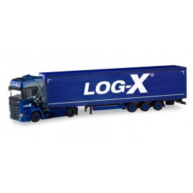 "Herpa 310413 Scania CS 20 high-roof lowliner semitrailer ""Log-X 