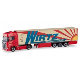 Herpa 310420 Scania CS 20 HD refrigerated box semitrailer ?Wirtz?