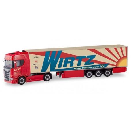 Herpa 310420 Scania CS 20 HD refrigerated box semitrailer ?Wirtz?