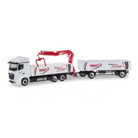 Herpa 310444 Mercedes-Benz Actros StreamSpace 2.5 pick-up trailer ?Vöckt?