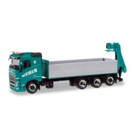 "Herpa 310475 Volvo FH pick-up truck with loading crane ""Betonpumpen Weber"" (A)"