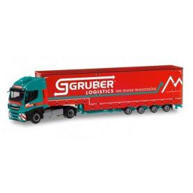 "Herpa 310512 Iveco Stralis XP volume semitrailer ""Gruber Logistics"""