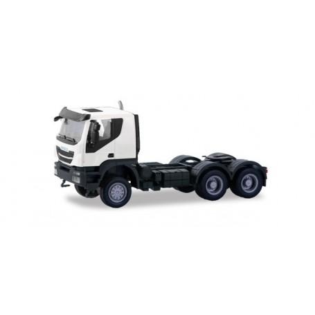 Herpa 310529 Iveco Trakker tractor 6×6, white