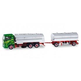 Herpa 310536 MAN TGS XL milk tank semitrailer ?Hans Gick?