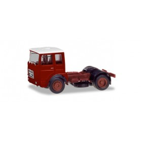 Herpa 310550 Roman Diesel 4×2 rigid tractor, brown-red | white roof