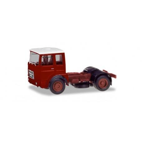 Herpa 310550 Roman Diesel 4×2 rigid tractor, brown-red   white roof