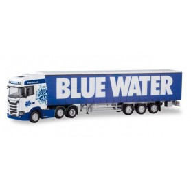 Herpa 310659 Scania CS 20 high-roof 6×2 curtain canvas semitrailer ?Blue Water? (DK)