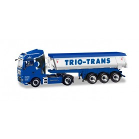 Herpa 310673 MAN TGX XLX Euro 6c Tipper semitrailer with thermal insulation ?Trio-Trans?