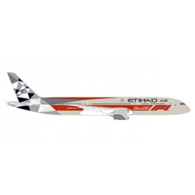 Herpa 533263 Flygplan Etihad Airways Boeing 787-9 Dreamliner ?Abu Dhabi Grand Prix?