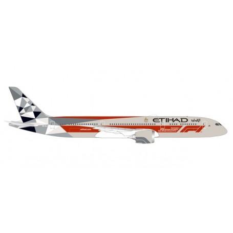 Herpa Wings 533263 Flygplan Etihad Airways Boeing 787-9 Dreamliner ?Abu Dhabi Grand Prix?