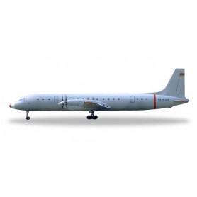 Herpa 533331 Flygplan Interflug Technische Prüfung - Flugsicherung Ilyushin IL-18 ?Grey Mouse?