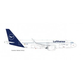 Herpa 559768 Flygplan Lufthansa Airbus A320neo - new colors ?Bastatt?