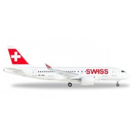 "Herpa 558471-001 Flygplan Swiss International Air Lines Airbus A220-100 ""Canton de Genève"""