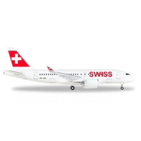 Herpa 558471-001 Flygplan Swiss International Air Lines Airbus A220-100 ?Canton de Genève?