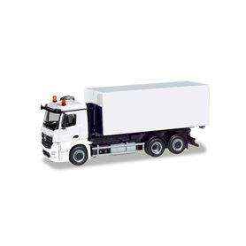 Herpa 013611 Herpa MiniKit. Mercedes-Benz Antos roll-off truck, white