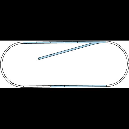 "Roco 42010 Utbyggnadsset ""Roco Line Track set B"""