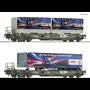 """Roco 76198 Vagnsset med 2 godsvagnar """"HUPAC"""""""