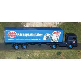 """Brekina 79172 Büssing LS 11 FS Skåptrailer """"ADLER-Käse creme"""""""