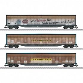 Märklin 48063 Vagnsset med 3 godsvagnar 'Transwaggon' 'Vädrade'