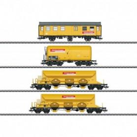 Märklin 49969 Vagnsset med 4 vagnar 'Track Laying Group' DBG 'Bahnbau Gruppe'