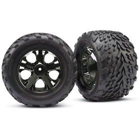 """Traxxas 3669A Däck, färdiglimmade, Talon 2.8"""" Tires med foam inserts, fälg All-Star black chrome, 1 par"""