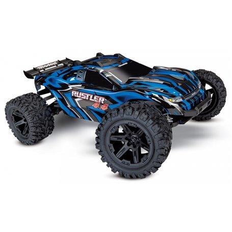 Traxxas 67064-1-BLUE Rustler 4x4 XL-5 1/10 RTR TQ med Batteri & Laddare