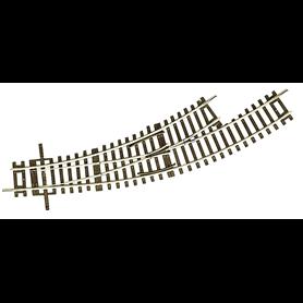 Roco 42464 Kurvväxel, vänster, manuell, R2/3 30°, radie 2, 358 mm, radie 3, 419,6 mm