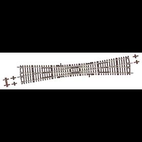 Roco 42496 Korsningsväxel, dubbel, manuell, 15°, radie: 995 mm, längd: 345 mm
