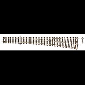 Roco 42489 Växel, höger, manuell, 10°, radie: 1946 mm, längd: 345 mm