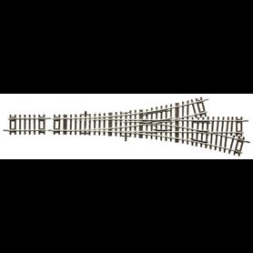 Roco 42454 Växel, 3-vägs, manuell, 15°, radie: 873,5 mm, längd: 230 mm