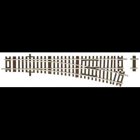 Roco 42441 Växel, höger, manuell, 15°, radie: 873,5 mm, längd: 230 mm