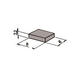 Roco 42256 Magneter, 6 st, för att aktivera reed-kontakten 42605, mått 22 x 8 x 6 mm