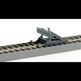 Roco 42608 Stoppbock, stadig design, clip-on rail, för Roco-Line