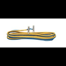 Roco 42613 Anslutningskabel med inbyggda skarvjärn, metall, passar för Roco räls 2,1 mm