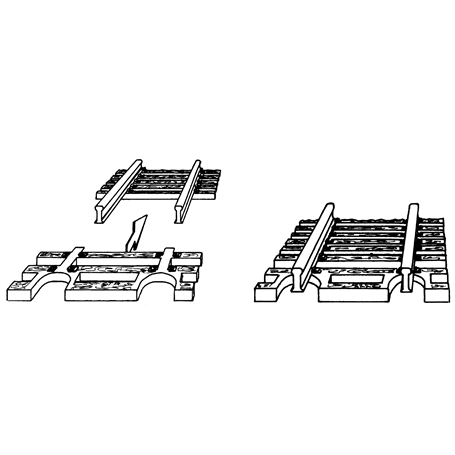 Fleischmann 22215 Slipersavslutning för flexräls, 1 st