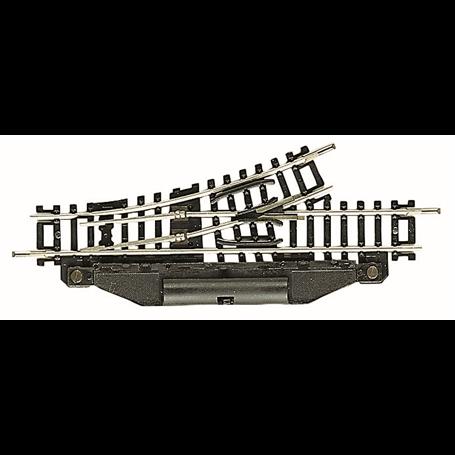 Fleischmann 22249 Elektrisk växel, vänster 24°, längd 104,2 mm