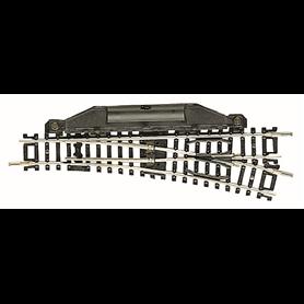 Fleischmann 22263 Elektrisk växel, höger 15°, längd 112,6 mm