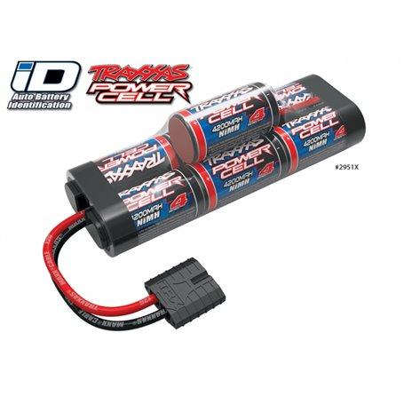 Traxxas 2951X Drivackpaket NiMH Batteri 8,4V 4200mAh Series 4 Hump iD-kontakt